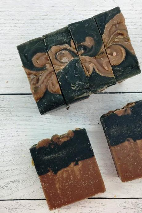 Strawberry & charcoal soap